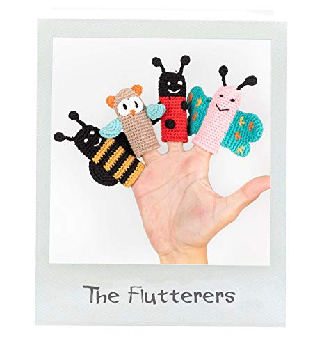 Organic Cotton Finger Puppet - Cuddoll The Splashers Finger Puppets | Puppet Set |100% Organic Cotton Yarn | 100% Hand Knitted Handmade | Without Any Harmful and Detachable Parts | Made in Turkey by Moms with Love (The Flutterers)