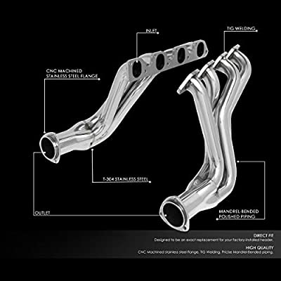 Pair 4-1 Stainless Steel Exhaust Manifold Header Replacement for 77-79 Ford F100/F150/F250 5.5L 6.6L V8: Automotive