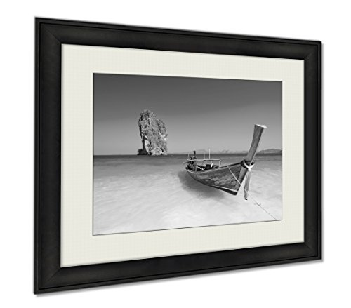 Ashley Framed Prints Amazing Beach Landscape In Thailand, Wall Art Home Decoration, Black/White, 26x30 (frame size), AG5889790 by Ashley Framed Prints