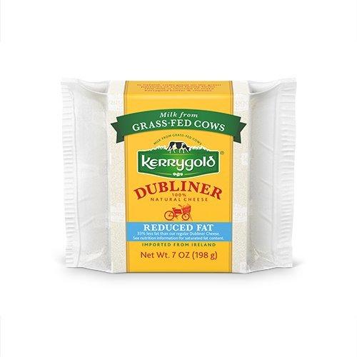 Kerrygold Dubliner Cheese Reduced Fat, 7 Ounce All-Natural Irish Cheese Made with Milk from Grass-Fed -