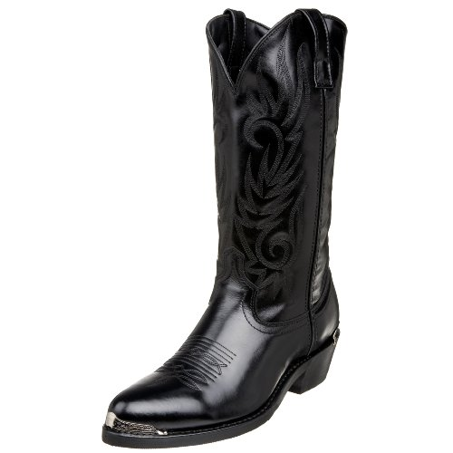 Mens Cowboy Boot - Laredo Men's Mccomb Western Boot,Black,9.5 D US
