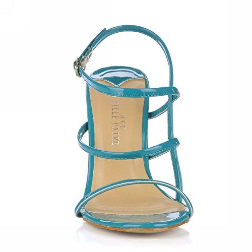 d'été produits nouveaux haut chaussures de bleu chaussures robe maximale des soirée femme du simple code à avec Blue Sandales talon qxnwZgE
