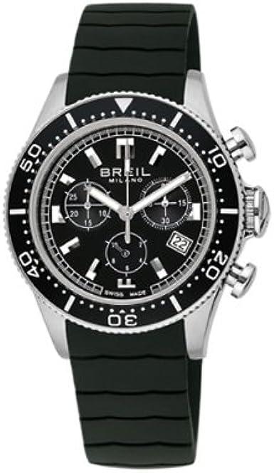 Breil BW0505 - Reloj cronógrafo de mujer de cuarzo con correa de goma negra (cronómetro) - sumergible a 100 metros