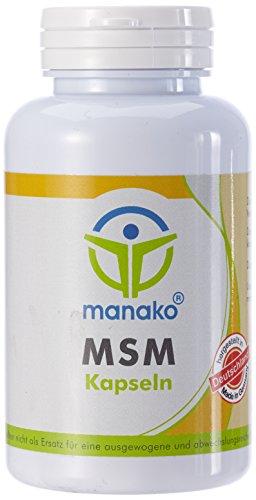 manako ® MSM (Methylsulfonylmethan) Kapseln human, 120 Stück, Dose 84 g (1 x 120 Kapseln)