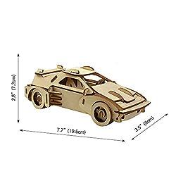 Baidecor Ferrari 3D Wooden Puzzle Model Kits Woodcraft Jigsaw Toy from Baidecor