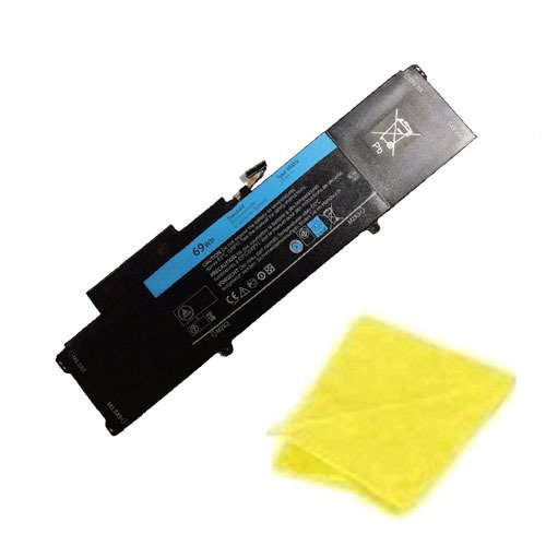 amsahr Replacement Battery for for Dell L421, XPS L421x Series, XPS 14-L421x Series, XPS 14 Ultrabook, XPS 14 L421X Ultrabook (69 WH, 14.8V) - Includes Cleaning Cloth
