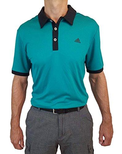 adidas Men's Golf Pique Polo Shirt (Green, 2XL)