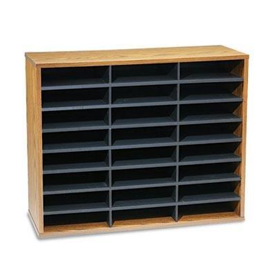 Fellowes - Fiberboard Literature Sorter 24 Sections 29 X 11 7/8 X 23 3/4 Medium Oak ''Product Category: Desk Accessories & Workspace Organizers/Sorters''