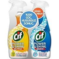 Cif Power & Shine Mutfak Yağ Çözücü 750 ml + Banyo 750 ml