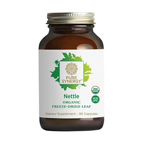 Pure Synergy USDA Organic Freeze-Dried Nettle Leaf (90 Capsules) Supports Healthy Histamine Levels During Allergy Season (Leaf Dried Nettle Freeze)