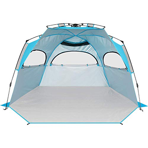 BATTOP Instant Beach Tent Sun Shelter - Easy Set Up Sun Shade for Family ()