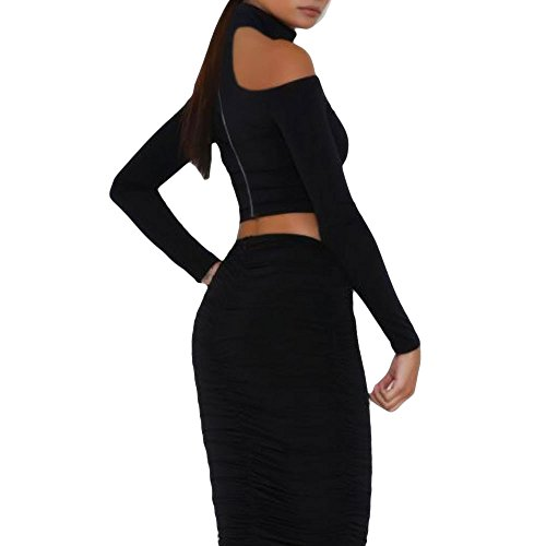 Toocool - Camiseta de manga larga - para mujer negro