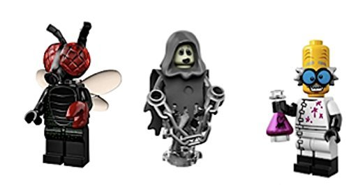 Fly Guy, Spectre, Mad Scientist : Lego Collectible Minifigures Series 14 Monsters, Zombies, Halloween Custom Bundle 71010 -