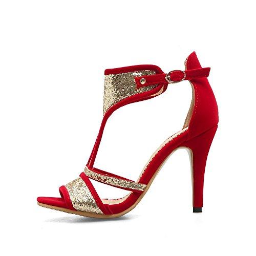 Femme BalaMasa ASL05547 Bout Red Ouvert SnA6wqBn