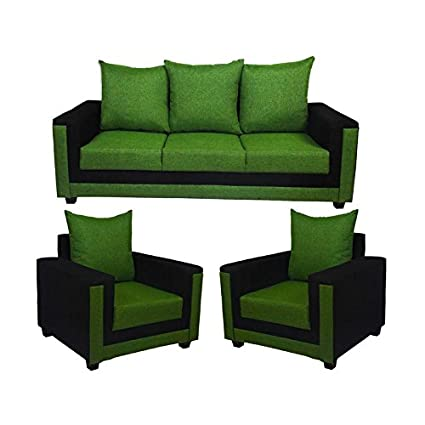 Oaken Green Color 3 1 1 Living Room Sofa Set With Cushions Amazon