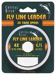 Crystal River Fly Line Leader, 4X (Fly River Line Crystal)