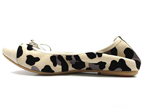 Gamuza Beige 36 Cuero AT265 Negro Bailarinas Mujer Crown Zapatos XxqnvzwY