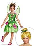 Tinkerbell Costume Kit Classic Kids M With Wig