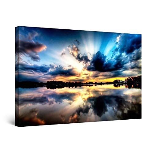 (STARTONIGHT Canvas Wall Art - Multicolor Sky II, Framed 24 x 36 Inches)