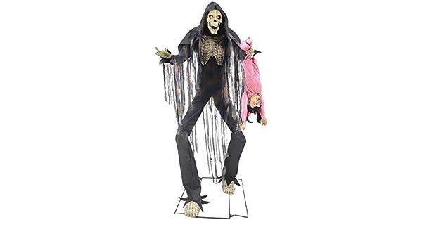 7ft 2.1m Animated Nightmare Man Lights Sound Motion Halloween Decoration Prop