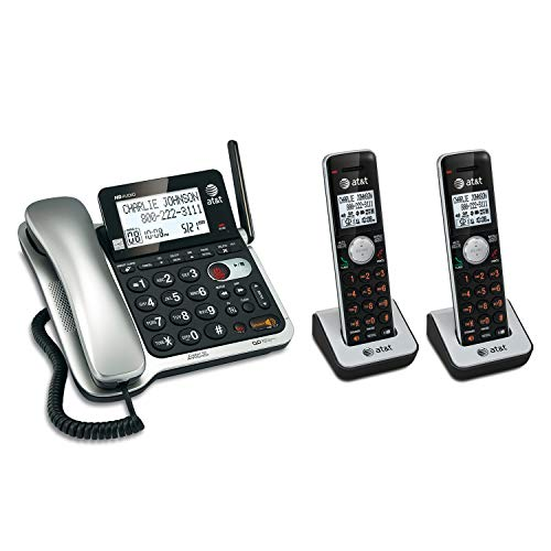 AT&T 2 Handset Corded/Cordless Answering System with Caller ID/Call Waiting - Phone At T & Lcd Cordless