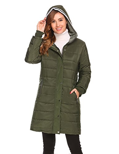Misakia Women's Lightweight Packable Down Jacket Outwear Puffer Down Coats(Army Green L) by Misakia (Image #2)