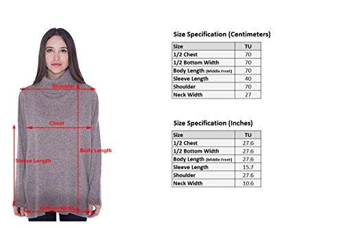 cashmere 4 U 100% Cashmere Turtleneck Oversize Sweater Pullover For Women by cashmere 4 U (Image #6)