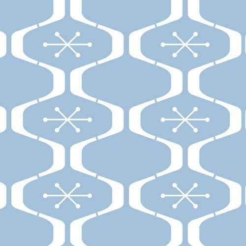 Atomic Star All Over Wall Stencil by Designer Stencils (10 mil (Atomic Star)