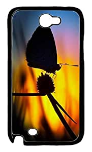 Butterfly Shadow Polycarbonate Hard Case Cover for Samsung Galaxy Note II N7100¨CBlack
