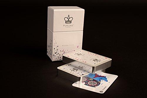 Silver Foiled Twist - Twin Decks, Luxury, Poker Sized, Designer Playing Cards