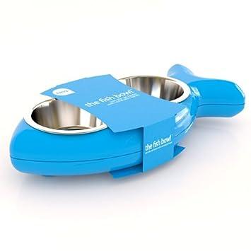 Comedero de gatos FISH - comedero para perros Estación de comedero - 500 ml Cantidad - medidas 40 x 20,5 x 7 cm - color: Azul: Amazon.es: Hogar