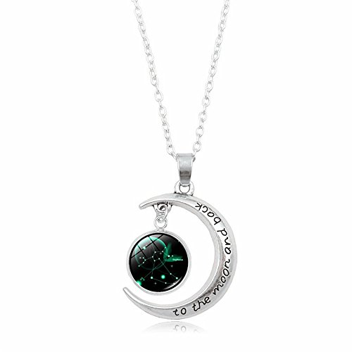 UEXIA Women's Zodiac Necklace 12 Constellations Pendant Clavicle Chain Necklaces