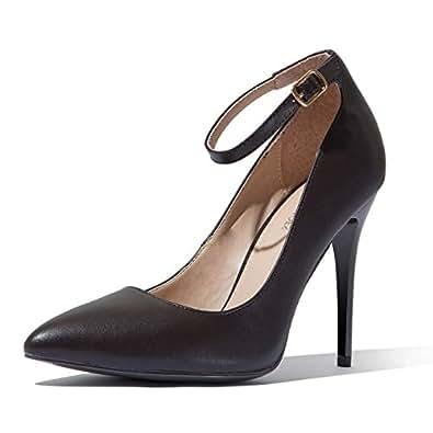 DailyShoes Women's Classic Fashion Stiletto Pointed Toe Paris-01 High Heel Dress Pump Shoes Brown Size: 5