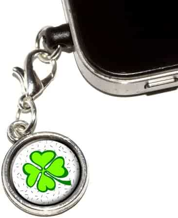 64cf7009e4339c Graphics and More Lots of Luck - Lucky Irish Four Leaf Clover Anti-Dust Plug