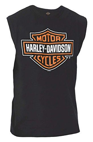 Harley-Davidson Mens Classic Bar & Shield Logo Sleeveless Muscle Tee, Black (Bar Logo Tee)