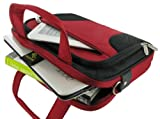 rooCASE Netbook Carrying Bag for ASUS Eee PC 1018P-PU37 10.1-Inch Netbook - Deluxe Series Red / Black