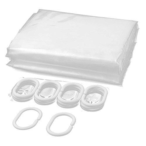 eDealMax EVA 3D Prints Cortina Bao Ducha 71 pulgadas x 71 pulgadas Clear ganchos w
