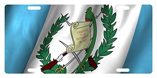 GUATEMALA Flag Custom License Plate Guatemalan Central American Emblem Version # 4 (LOGO VERSION)