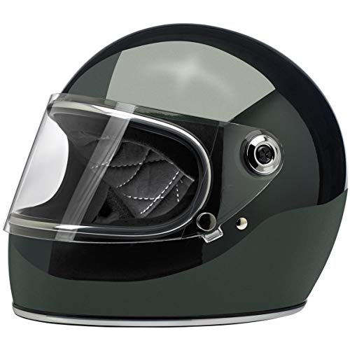Biltwell Gringo S ECE Rated Helmet Gloss Sierra Green Large (More Size and Color - Cheek Replacement Pads Option