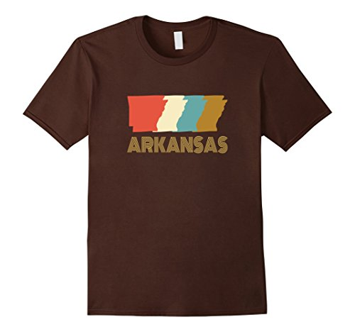 Womens Vintage Arkansas Home State T Shirt Medium Brown
