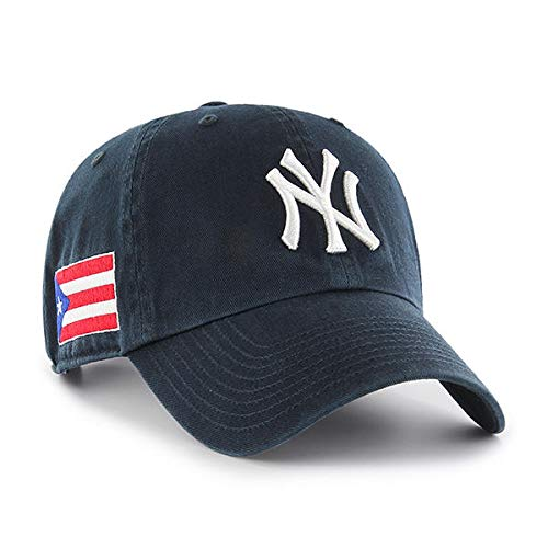 - '47 York Yankees Clean Up Dad Hat Cap Strapback Navy/Puerto Rico PR Flag