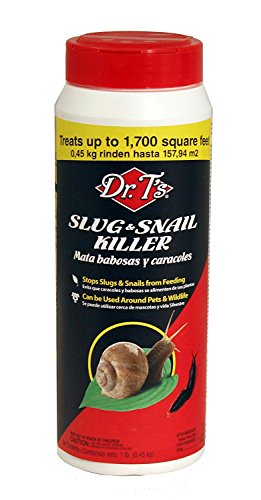 Dr.T's DT125 Nature Products Slug and Snail Killer, 1-Pound Granular Bottle