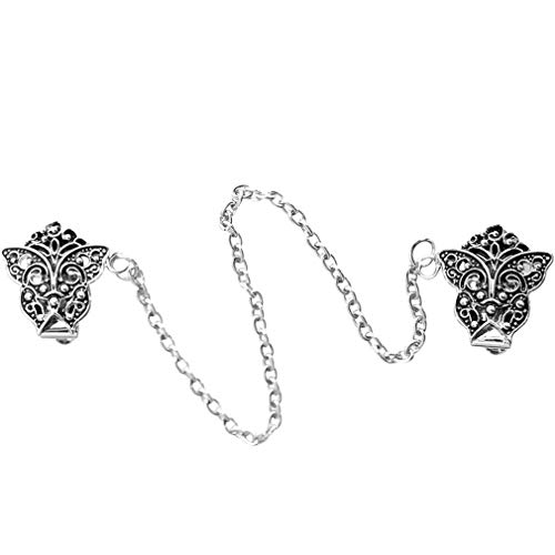 Evelots Sweater/Collar/ Shawl Clip-Butterfly-Antique Silver-Blouse-Asst. Styles - Sweater Vintage Clip