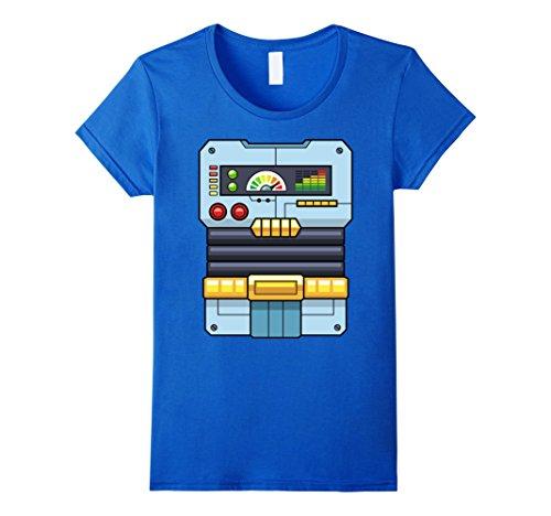 [Women's Robot Costume T-Shirt | Halloween Robot Control Panel Tee XL Royal Blue] (Female Robot Costumes)