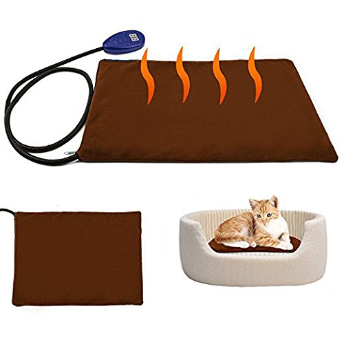 Bureze Pet Heating Pad Electric Heating Pad for Cats and Dogs Kitty Warming Mat