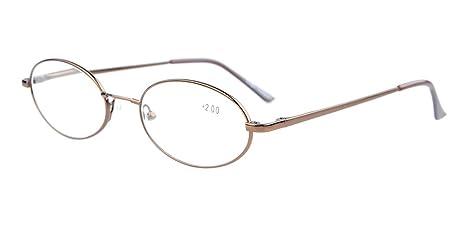 Eyekepper Lunettes de lecture Lunette de vue ovale - Titane metal qualite  souple leger + dc24f439b6aa