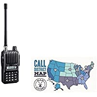 Icom Handheld radio, 2m, 5.5W and Ham Guides TM Pocket Reference Card Bundle