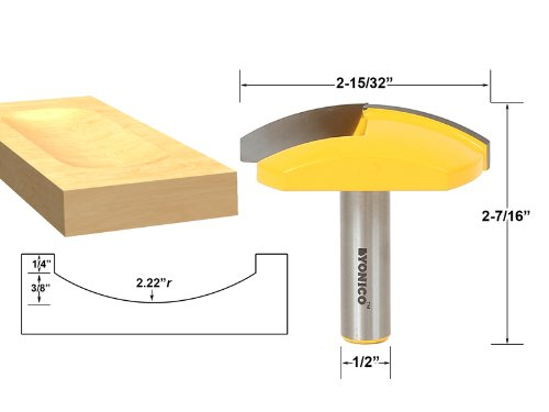 - Medium Bowl Router Bit - 2.22