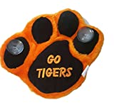 Go Tigers Mascot Orange Black paw print 8 inch plush stuffed window cling