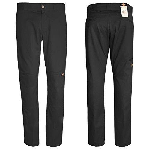 Dickies Men's Skinny Straight Double Knee Work Pant, Black, 34x32